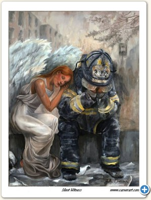 This print reflects the courage, commitment, and sometimes the heartbreak which comes with a job in the fire service